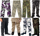 Camouflage Kids Military BDU Cargo Polyester/Cotton Fatigue Pants