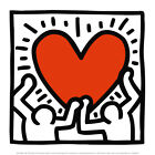 Untitled, c.1988 Art Poster Print by Keith Haring, 12x12