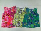 NEW HEALTHTEX WOVEN TOP FLORAL PRINT PINK PURPLE or BLUE SIZES 12 MO 24 MO 3T 4T