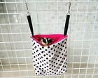 """CUTE! 7""""x 7.5"""" Sugar Glider/Rat """"NEST POUCH"""" Hanging Bag + Metal hook washable"""