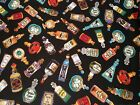 Potions Witch Fabric Halloween Spells Jars Black Magic Voodoo Material Cotton
