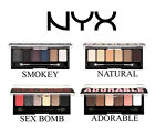 NYX Eyeshadow Palette choose ADORABLE NATURAL SMOKEY SEX BOMB 6 shadow shades