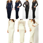 New Sexy Lace V Neck Maxi Dress Bodycon Dress Party Dress Stock Size 6-16