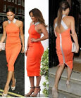Womens Vintage Celebrity Keyhole Bodycon Stretch Party Pencil Dress S M L XL New