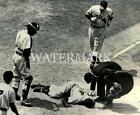 Larry Doby Gets Hit By Pitch 8x10 11x14 12x18 Photo Cleveland Indians Baseball