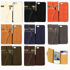 2 in 1 Squirrel Grain Leather Zipper Flip Wallet Case Cover For iPhone 5 5S 4 4S