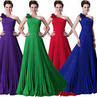 Chiffon Wrinkled Evening Party Cocktail Formal Ball Prom Bridal Maxi Pinup Dress