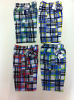 BNWT Boys Checked Combat Style Longer Length Shorts Ages 4 - 12