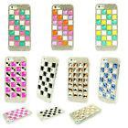Luxury Square Gems Bling Diamonds Clear Case Cover For iPhone5 5S 4 4S 5C DBFS