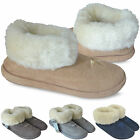 Ladies Womens Slipper Boots Girls New Warm Winter Fur Cuff Booties Shoes UK Size