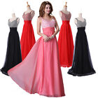 AU Long Cocktail Evening Formal Party Ball Gown Prom Wedding Dresses 8 Size 6-20
