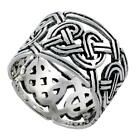 Sterling Silver Celtic Knot Wedding Band Thumb Ring  #tr480
