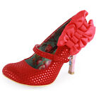 Irregular Choice Fox Trot Womens Fabric Heels Red New Shoes All Sizes