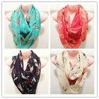 Dragonfly Decorative Infinity Scarf Circle Neck Long Shawl Colors