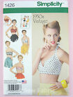 Simplicity 1426 Sewing Pattern Misses' Bra Tops - 1950's Classic Vintage Retro
