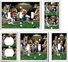 DOGS PLAYING POOL BILLIARDS GAME ROOM DECOR LIGHT SWITCH OR OUTLET COVER V112 $6.19 USD on eBay