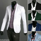 Promotions! New Fashion Mens One Button Casual Slim Suit Coat Jacket Blazers