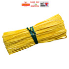 1m 50m 100m Raffia Paper Ribbon Gift Wedding Decorating Scrapbooks YELLOW FAST