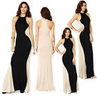 Celeb Maxi Optical Illusion Bodycon Prom Dress Summer Sleeveless Long Dress XS~L