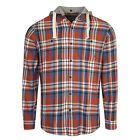 SOUTH DEAN STREET Mens Orange Checked Hooded Shirt - Small BNWT