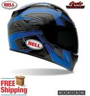 BELL VORTEX MOTORCYCLE HELMET FLACK BLUE BLACK SNELL APPROVED FREE SHIPPING NEW