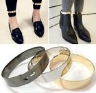 FD445 Gold Metallic Mirror Metal Wrist Ankle Leg Foot Cuff Bracelet Bangle ~2PCs