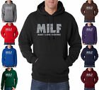 MILF MAN I LOVE FISHING FUNNY fish HUNTING 50/50 Pullover Hoodie S-3XL