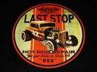 RAT ROD DUECE COUPE VINTAGE LOOK LAST STOP HOODIE BLACK