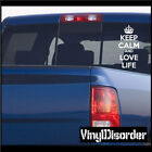Keep Calm and Love Life Vinyl Wall Decal or Car Sticker-keepcalmandlovelifeEY