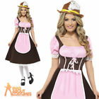 Tavern Girl Bavarian Long Dress Oktoberfest Waitress Fancy Dress Costume UK 8-22