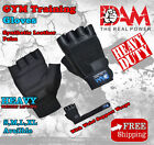 LEATHER GYM GLOVES FITNESS WEIGHT LIFTING TRAINING BODYBUILDING CROSSFIT, NEW