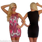 NEW PINK RED BLUE MULTI FLOWER BELTED WRAP STYLE SHORT SLEEVE SHIFT TUNIC DRESS