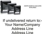 IF UNDELIVERED RETURN TO RUBBER STAMP, PERSONALISED / CUSTOMISED SELF INKING