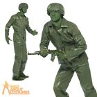 Green Plastic Toy Army Soldier Costume Toy Story Mens Male Fancy Dress Outfit
