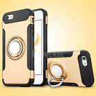 For iPhone 5 5S SE Shockproof Kickstand Armor Slim Rugged Case Cover + Lanyard