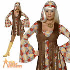 70's Hippie Fringed Woodstock 60's Womens Ladies Fancy Dress Costume Size 8 - 18