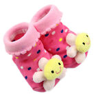 1 Pair Cute Baby Girl Boy Cotton Cartoon Anti-slip Soft Shoe Socks 0-6 Month New
