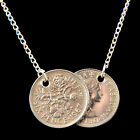 Lucky Sixpence Pendant  Necklace - Holly Willoughby Style 1947 - 1967 - Wedding