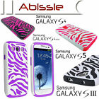Heavy Duty 2 Pce Durable Zebra Case Cover for Samsung Galaxy S3 S4 S5 S4 mini