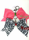 Custom Personalized Name Cheer Bow KEY CHAIN  Bow For Bags Choose Color