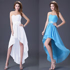 Strapless Bridesmaid Wedding Gown Prom Ball Evening Dress Size 6-8-10-12-14-16