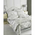 French Toile De Jouy Duvet Cover – Luxury 100% Cotton Vintage Cream Grey Bed Set