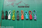 550 Paracord Zip/Zipper Pulls , Jackets, Bags, Tents, Army, Military, Set of 3