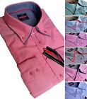 NEW Mens Cotton Shirt Oxford Button Down double collar Formal Casual Long Sleeve