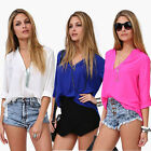 1PC Fashion Women Leisure Loose Chiffon Long Sleeve Blouse Shirt Tops Vogue