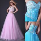 Elegant Womens Corset Floor Length Ball Gown Party Bridesmaid Evening Prom Dress