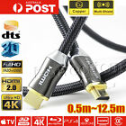 Premium Black HDMI Cable Gold Plated V2.0 3D High Speed 4K Audio Ethernet 1m~10m