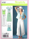 Simplicity 4192 Sewing Pattern Ladies Trousers Shorts Kimono Bra Top & Knit Top