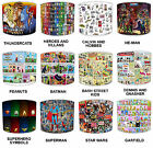 Lampshades Ideal To Match Children`s Old Comic Book Super Heroes Wall Decals.