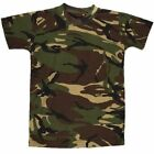 Kids Army T Shirt DPM Camo Military Fancy Dress Up Soldier Childrens